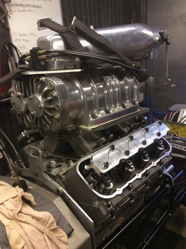 Intake manifold and blower back on